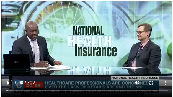 The NHI: Good idea or bad? Our CEO gives his view.